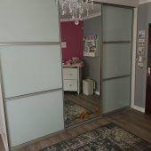 colour Glass Sliding Door and Mirror Sliding Door Sliding Glass Door, Sliding Doors, Top Freezer Refrigerator, Swift, Custom Design, Divider, Kitchen Appliances, Colour, Mirror