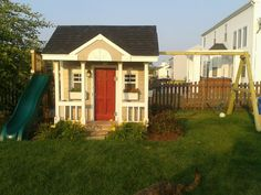 Playhouse and swingset