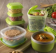 This set of stackable lunch containers is great for anyone trying to eat right and stay healthy! Containers can snap and stack on top of each other for easier packing. Visit www.Fit-Fresh.com to learn more  #fitfresh