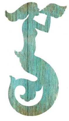 Great to designate the mermaid room.  Aqua Mermaid Silhouette from Suzanne Nicoll - Left