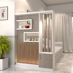 30 Best Smoothly Room Divider Ideas Improve your Home Room Partition Wall, Living Room Partition Design, Room Divider Shelves, Room Partition Designs, Living Room Divider, Living Room Decor, Partition Ideas, Divider Design, Divider Ideas