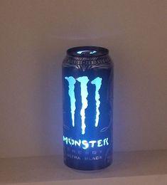 Monster Energy Can Light: 7 stappen (met afbeeldingen) Monster Energy Drinks, Monster Energy Nails, Monster Room, Love Monster, Indie Room Decor, Aesthetic Room Decor, Bebidas Energéticas Monster, Monster Crafts, Color Changing Lights