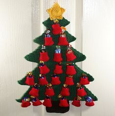 Ravelry: Christmas Tree Advent Calendar pattern by Sarah Freeman....new advent calendar......free pattern