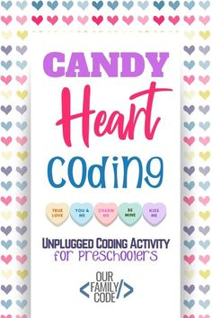 Grab these free preschool unplugged coding worksheet to practice sequencing today and finish writing sequences with Valentine's Day candy hearts! #coding #teachkidstocode #STEAM #STEM #ValentinesDay Kids Learning Activities, Spring Activities, Preschool Activities, Teaching Kids, Valentine's Day Crafts For Kids, Toddler Crafts, Kid Crafts, Free Preschool, Preschool Crafts