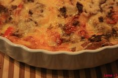 Arme Riddere a la Lena (uten melk) Tex Mex, Lchf, Cheeseburger Chowder, Quiche, Mashed Potatoes, Macaroni And Cheese, Food And Drink, Breakfast, Ethnic Recipes