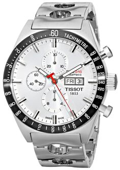 Tissot Men's T0446142103100 T-Sport PRS516 Automatic Silver Day Date Dial Watch