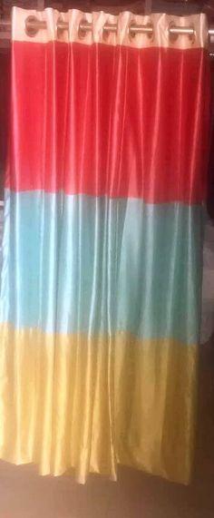 Colourful eyelet curtains - Home Guru