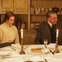 Phyllis Logan Elsie Hughes Jim Carter Charles Carson Behind the Scenes Downton Abbey Series Season 5.9 2014 Christmas Special 'A Moorland Holiday'