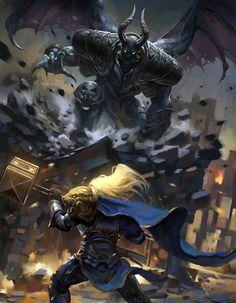 Prince Arthas VS Mal'ganis by zippo514