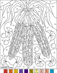 243 Best Color By Numbers Adult Coloring Pages Images Color By