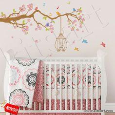 Linda Árvore Infantil para decoração de quarto de bebê.