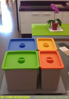 e5b90dee88678 cubos de colores para separar residuos - Cerca amb Google