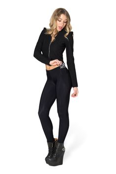 $55 MN ESSENTIAL, MUST HAVE -Warm Grey Pocket Leggings › Black Milk Clothing