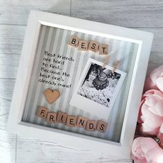 Best Friend Gift Present For Best Friend Best Friend Frame . Best Friend Gift Present For Best Friend Best Friend Frame Gifts For Your Bestfriend, Cute Best Friend Gifts, Best Friend Birthday Present, Cute Birthday Gift, Presents For Best Friends, Bff Gifts, Sister Gifts, Girl Birthday Gifts, Handmade Gifts For Friends