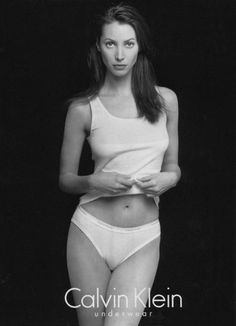 Take a look back at Christy Turlington Burns' past Calvin Klein Underwear campaigns. @Calvin Ruthven Klein
