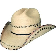 """From the Bullhide """"Lil' Pardner"""" collection: """"Miller Jr. 15X."""" This straw hat is made of Palm Leaf Straw with 3 1/2"""" brim and features a western crown. This hat features a thin two-ply hat band.."""