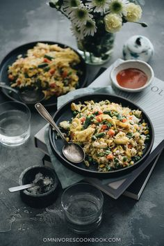 Vegetable Fried Rice (蔬菜炒饭) - The best vegetable fried rice that you can prep and cook in 10 minutes. {Vegetarian, Gluten-Free}