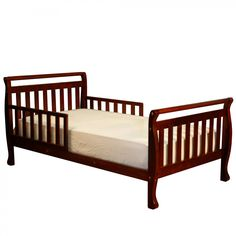 Dimension : x x Finish : Cherry Material : Hardwood Kid's Toddler Bed with Guard Rails in Cherry Finish Features beautiful finished hardwood and Wooden Toddler Bed, Kids Toddler Bed, Baby Kids, Nursery Furniture, Kids Furniture, Outdoor Sofa, Outdoor Furniture, Cherry Baby, Wood And Metal