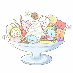 Cute Cartoon Drawings, Bts Drawings, Kawaii Drawings, Jungkook Fanart, Kpop Fanart, Bts Bangtan Boy, Bts Chibi, Anime Chibi, Cartoon Wallpaper