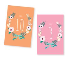 Printable Wedding Table Numbers $15.00 - by HermiasWishes on etsy | via http://pinterest.com/pin/155303887120573721/