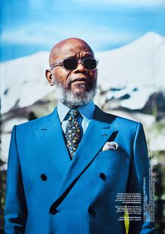 Samuel L. Jackson wears CLAIRE GAUDION For Budd Shirtmakers, Rocquaine Silk Pocket Square in THE RAKE magazine. Our Silk Pocket Squares and Bow Ties are available exclusively at Budd Shirtmakers, London. Men's Fashion, Mens Fashion Suits, Mens Suits, Mature Fashion, Fashion Menswear, Sharp Dressed Man, Well Dressed Men, Mature Men, Fine Men