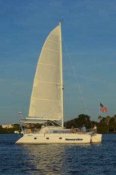 Thank you Cliff Wardlow for this great photo of Moonraker on a Sunset Sail on the Indian River Lagoon, Vero Beach, FL. Vero Beach Florida, Florida Beaches, Indian River Lagoon, Sailing Catamaran, Welcome Aboard, Captiva Island, Thousand Islands, Anna Maria Island, Marco Island
