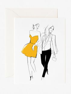 Greeting Card. About Garance Doré is an illustrator, photographer and fashion blogger. Her illustration talent has allowed her to collaborate creatively with Vogue Paris, Dior, Chopard, Louis Vuitton,