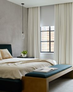 Get luxury hotel vibes, right at home. Get the look at theshadestore.com. Window Treatments, Home, Luxury Hotel, Furniture, House, Beautiful Bedrooms, Roller Shades, Bedroom Windows, The Shade Store