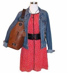 Tulle dress, Elka Designs necklace, Kut From The Kloth jacket, statement belt, Ellington Sadie Hobo