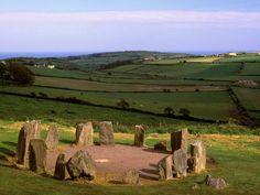Drombeg stone circle, County of Cork, Ireland