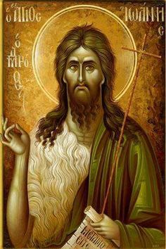 John the Baptist by Eleni Dadi Religious Pictures, Religious Icons, Religious Art, Byzantine Icons, Byzantine Art, Christian Paintings, Christian Art, Portrait Art, Portraits
