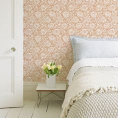 Wall Stencils | Large Allover Brocade Stencil | Royal Design Studio
