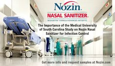The Importance of the Medical University of South Carolina Study on Nozin Nasal Sanitizer for #Infection Control