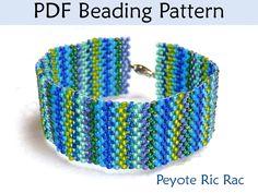 Peyote Ric Rac Bracelet PDF Beading Pattern