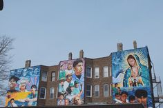 Mural painting at Pilsen, Chicago