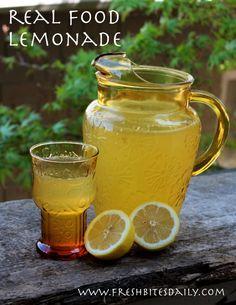 Real food, honey-sweetened lemonade (with a secret ingredient)
