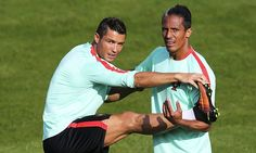 Ronaldo and Portugal stretch out in training at Euro 2016 base