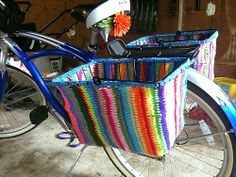 "crochetingclub: crocheting bicycles. ""dress guards"""