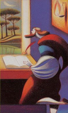 The Dante Tarot by Giordano Berti and Andrea Serio Fauvism Art, Lorenzo Mattotti, Page Of Wands, Rabbit Illustration, Fashion Painting, Various Artists, Comic Artist, Art Reference, Illustrators
