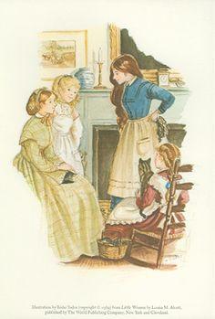 Cellar Door Books: LITTLE WOMEN prints. Alcott, Louisa M. - The World of Tasha Tudor