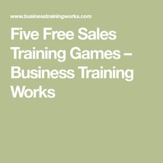 Sales Activities For Sales Training  Training ActivitiesGames