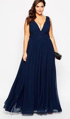 Forever Unique Plus Size Plunge Neck Maxi Dress Plus Size Party Dresses, Trendy Dresses, Plus Size Outfits, Cheap Dresses, Evening Dresses, Prom Dresses, Formal Dresses, Fitted Dresses, Dress Skirt