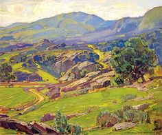 CALIFORNIA IMPRESSIONISM: WILLIAM WENDT German-born William Wendt (1865 - 1946) first worked as a commercial artist in Chicago, producing formula pictures, before he moved to California in 1906 to pursue a career as a painter. Wendt's style is, on...