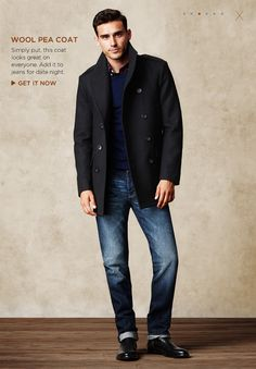 Brown leather jacket over a great pair of denim blue jeans is ...