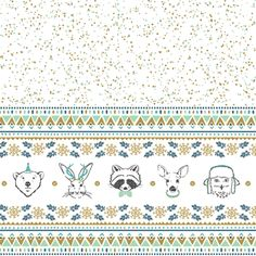 Hawthorne Threads - Oh What Fun - Oh What Fun Border in Spruce