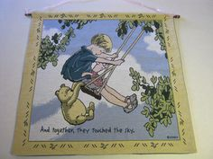 Classic Winnie the Pooh Wall Hanging Piglet Christopher Robin Nursery