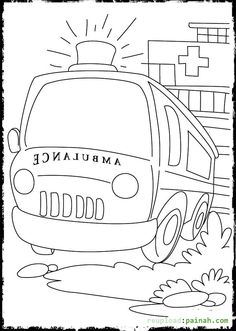 ambulance coloring pages and building coloring pages rescue vehicles coloring pages. Black Bedroom Furniture Sets. Home Design Ideas