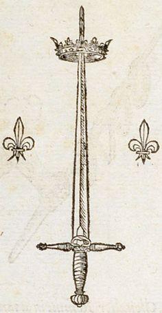 Pictura of Paradin, Claude: Devises heroïques Consilio firmata Dei. Antique Illustration, Illustration Art, Woodcut Tattoo, Handpoke Tattoo, Sword Tattoo, Kunst Tattoos, Occult Art, Medieval Art, Medieval Tattoo
