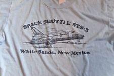 Rare Vintage 1980s NASA Space Shuttle STS-3 White Sands NM Landing T-Shirt Men M