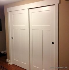 Closet door makeover--Meaningful Mama: Day #349 - DIY
